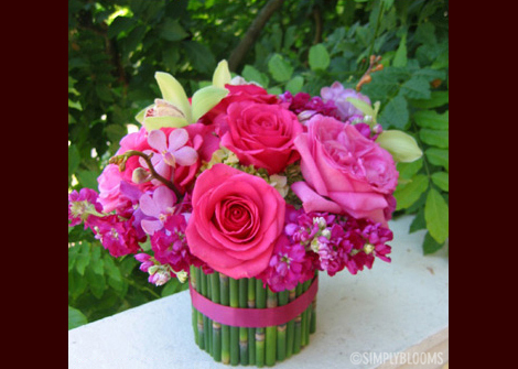 Flowers & Decor, pink, green, Flowers, Simply blooms