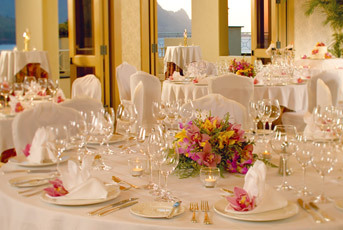 Reception, Flowers & Decor, yellow, pink, Princeville resort