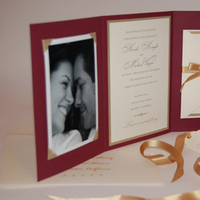Stationery, red, gold, Invitations, Invited ink