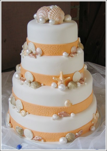 Cakes, orange, cake, Beach, Beach Wedding Cakes, Sweet traders