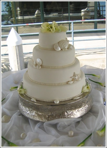 Cakes, cake, Beach, Beach Wedding Cakes, Shells, Sweet traders