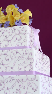 Cakes, purple, cake, Butterfly cakes