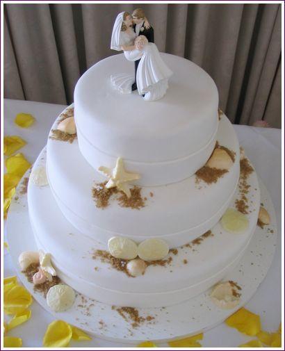 Cakes, cake, Beach, Beach Wedding Cakes, Starfish, Sweet traders, Seashells