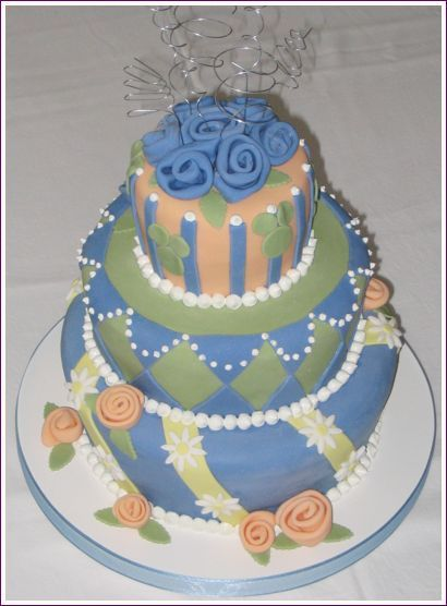 Cakes, blue, green, cake, Sweet traders