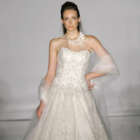Wedding Dresses, A-line Wedding Dresses, Fashion, dress, Strapless, Strapless Wedding Dresses, A-line, Tulle, Kenneth pool, Curved, tulle wedding dresses