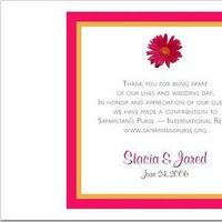 Stationery, orange, pink, Invitations