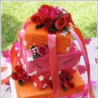 Cakes, orange, pink, cake, Sweet traders