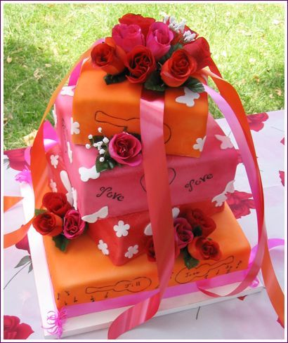 Cakes, orange, pink, cake, Sweet traders