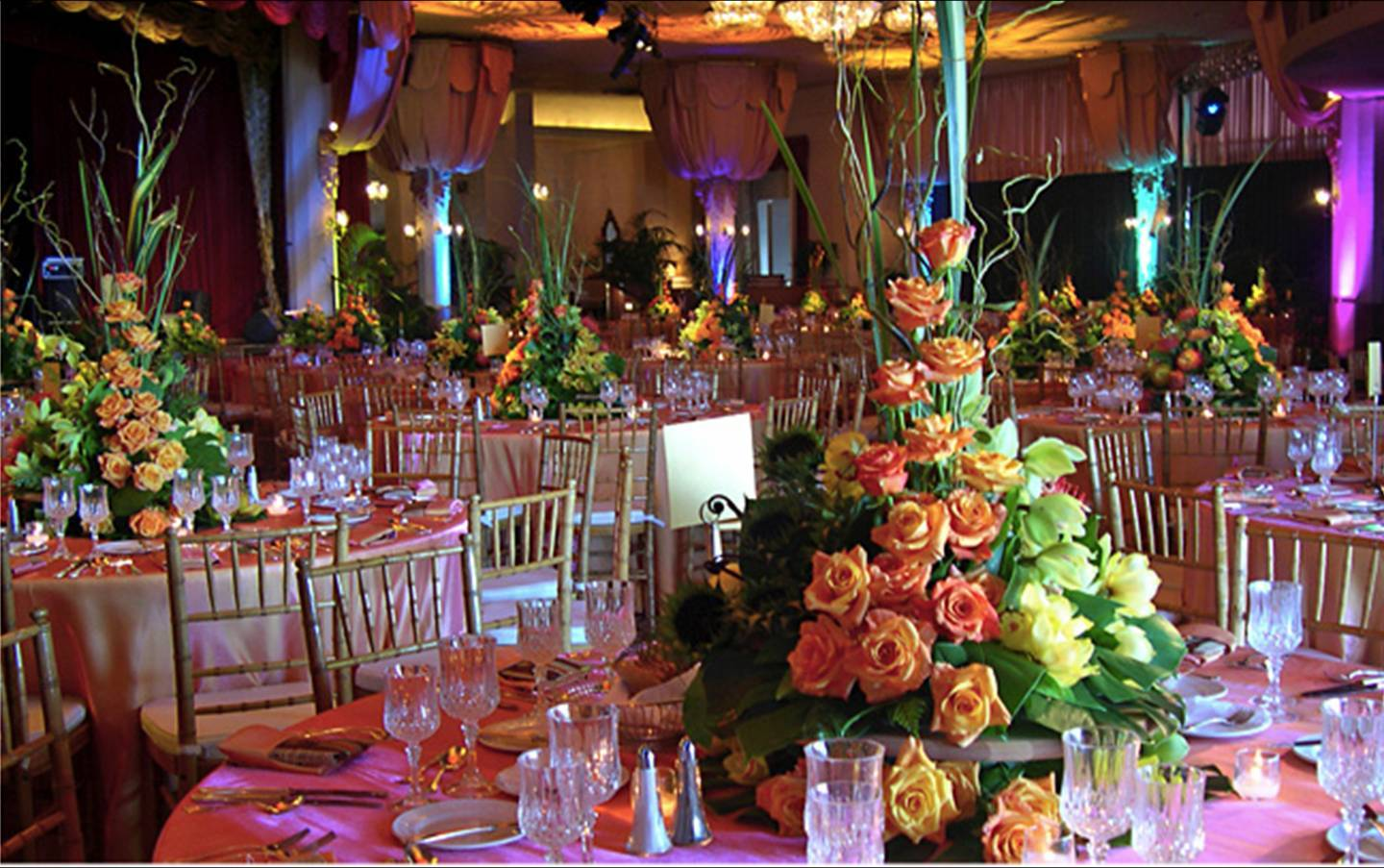 Reception, Flowers & Decor, Lighting, Hotel, Hawaiian, Royal
