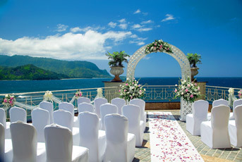 white, Arch, Ocean, Princeville resort