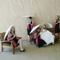 Bridesmaids, Bridesmaids Dresses, Fashion, pink, Parasol