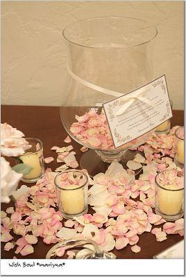 Flowers & Decor, pink, Flowers, Guestbook, Wish bowl