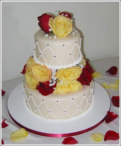 Cakes, yellow, red, cake, Sweet traders