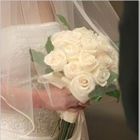 Flowers & Decor, white, Bride Bouquets, Flowers, Roses, Bouquet