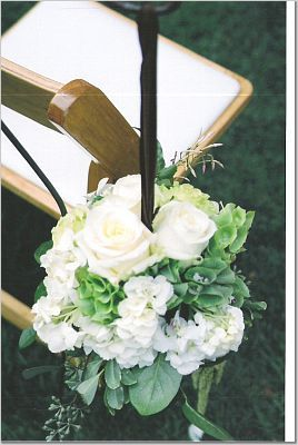 Flowers & Decor, white, Aisle Decor