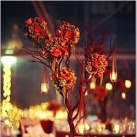 Reception, Flowers & Decor, orange, red, Flowers