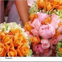 Flowers & Decor, orange, pink, Bride Bouquets, Flowers, Bouquet