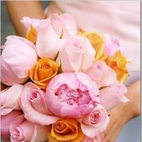 Flowers & Decor, orange, pink, Bride Bouquets, Flowers, Bouquet