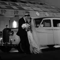 Bride, Groom, And, Limo, Weddings, Beautiful, With