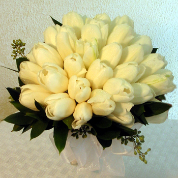 white, Bouquet, Tulip, Masseys house of flowers