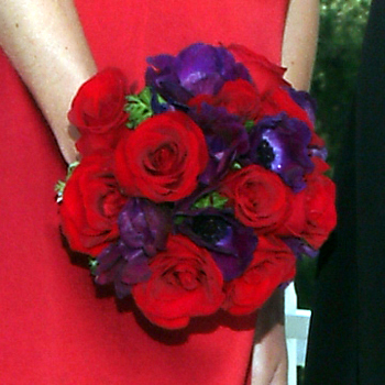 red, purple, Bouquet, Masseys house of flowers