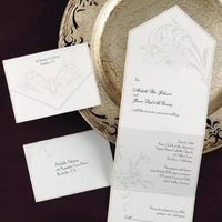 Stationery, white, gold, Invitations, Rexcraft
