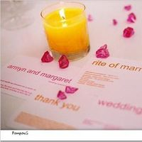 Stationery, yellow, pink, Candles, Invitations