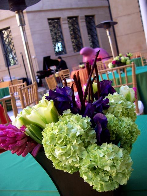 Reception, Flowers & Decor, purple, green, Flowers