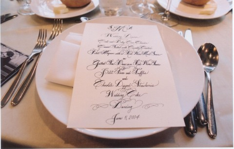 Reception, Flowers & Decor, Calligraphy, Menu