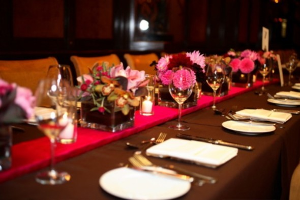 Reception, Flowers & Decor, pink, red, brown