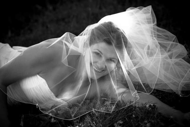 Veils, Fashion, Bride, Portrait, Veil, Bridal, Grass, On