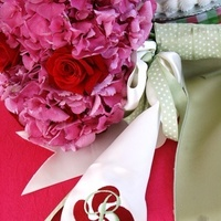 Flowers & Decor, Bride Bouquets, Flowers, Bouquet, Sash, Embroidery, The garter maker