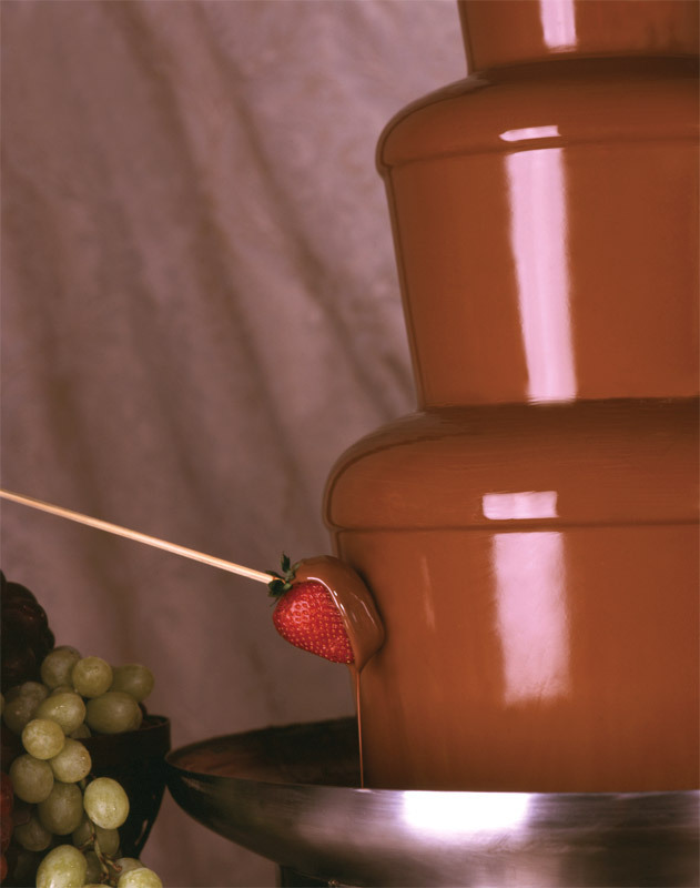 Gourmet chocolate fountains