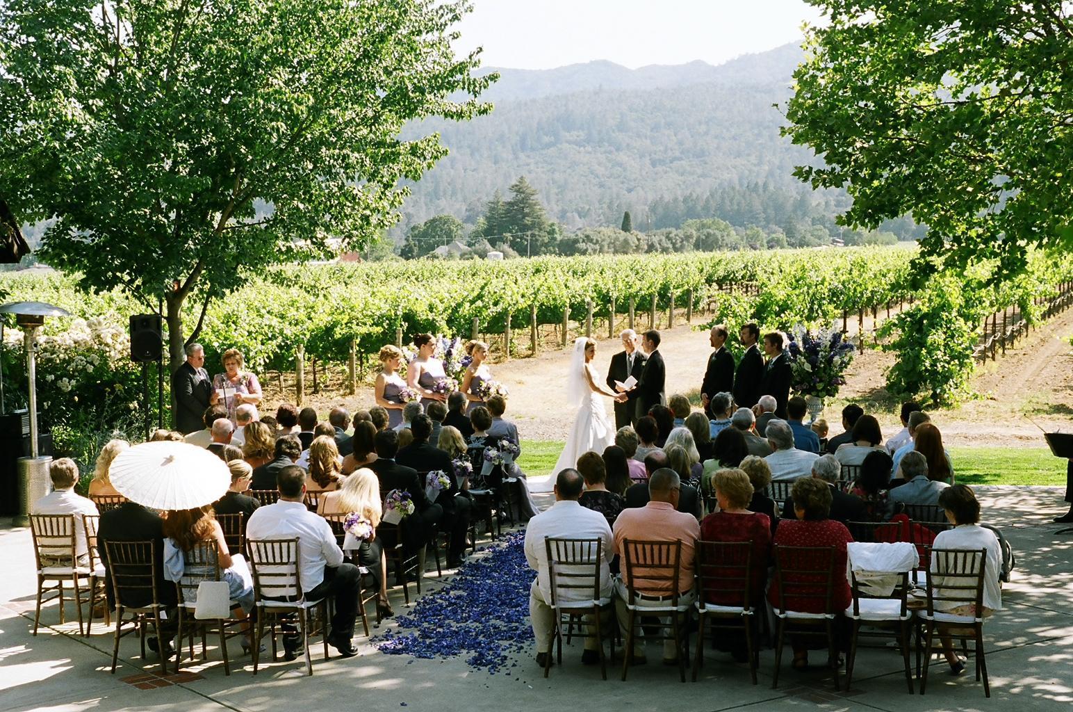 Ceremony, Flowers & Decor, purple, Vineyard, Chiavari, Parasol