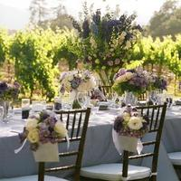 purple, Vineyard Wedding Flowers & Decor