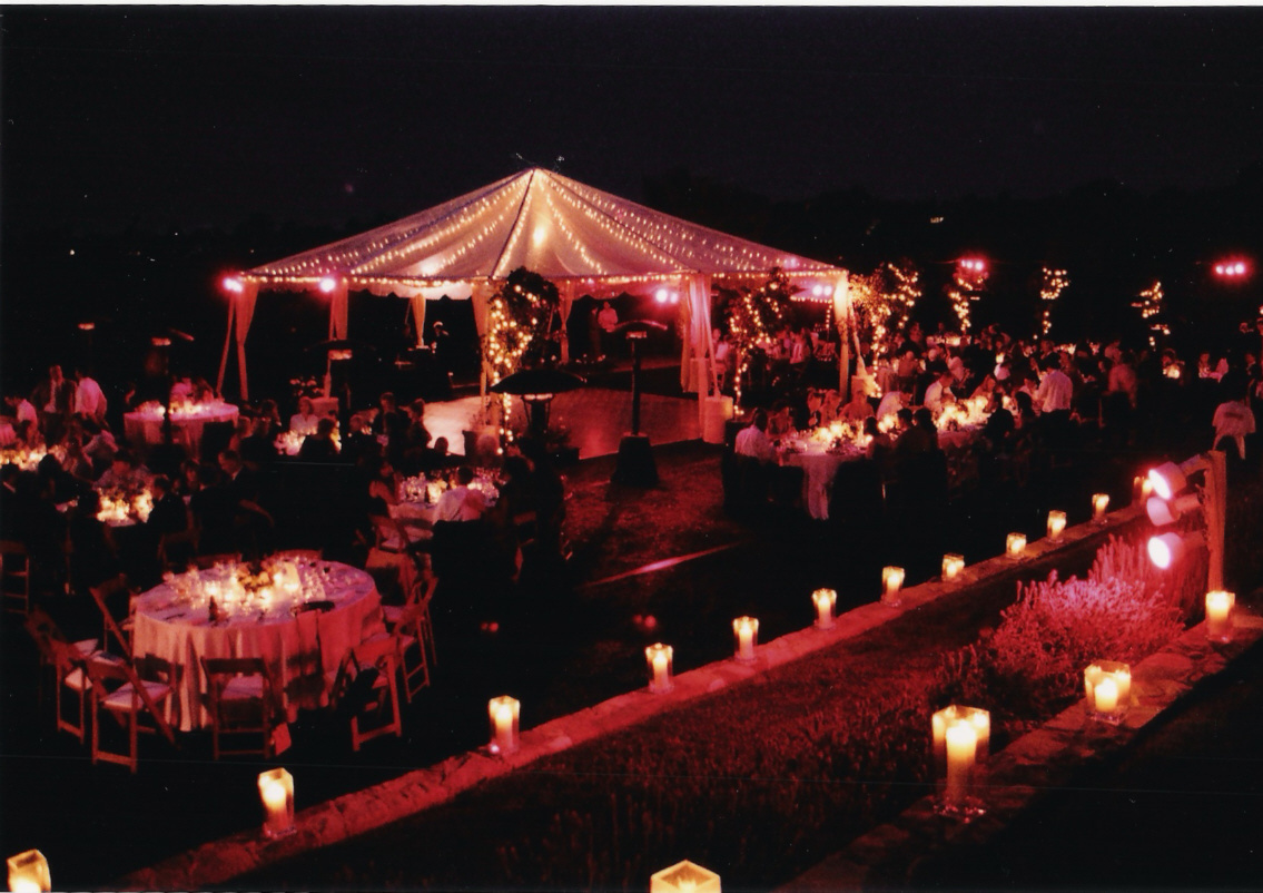 Outdoor, Wedding, At, Private, Home
