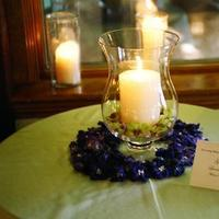 Reception, Flowers & Decor, purple, green, Candle