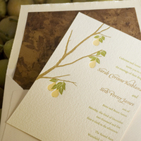 Stationery, green, invitation, Invitations, Pear, Twig fig