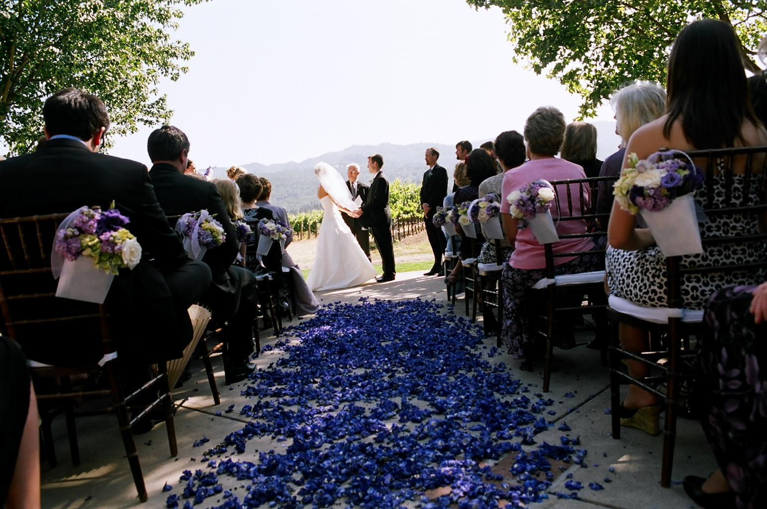 Ceremony, Flowers & Decor, purple, Ceremony Flowers, Flowers, Chiavari