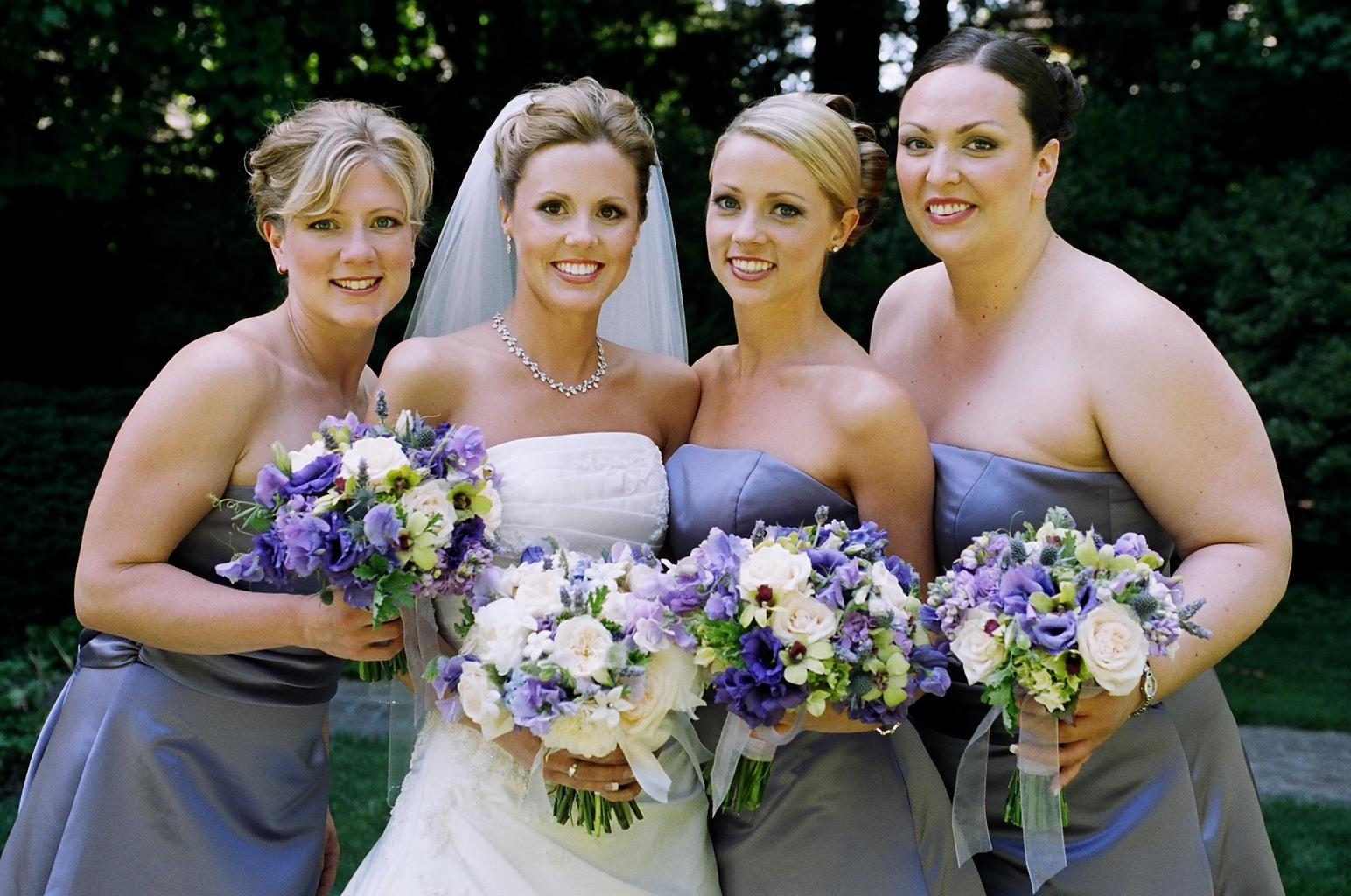 Flowers & Decor, Bridesmaids, Bridesmaids Dresses, Fashion, purple, Bridesmaid Bouquets, Flowers, Flower Wedding Dresses