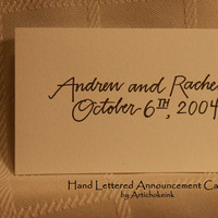 Stationery, Announcements, Escort Cards, Artichoke ink, Card, Announcement
