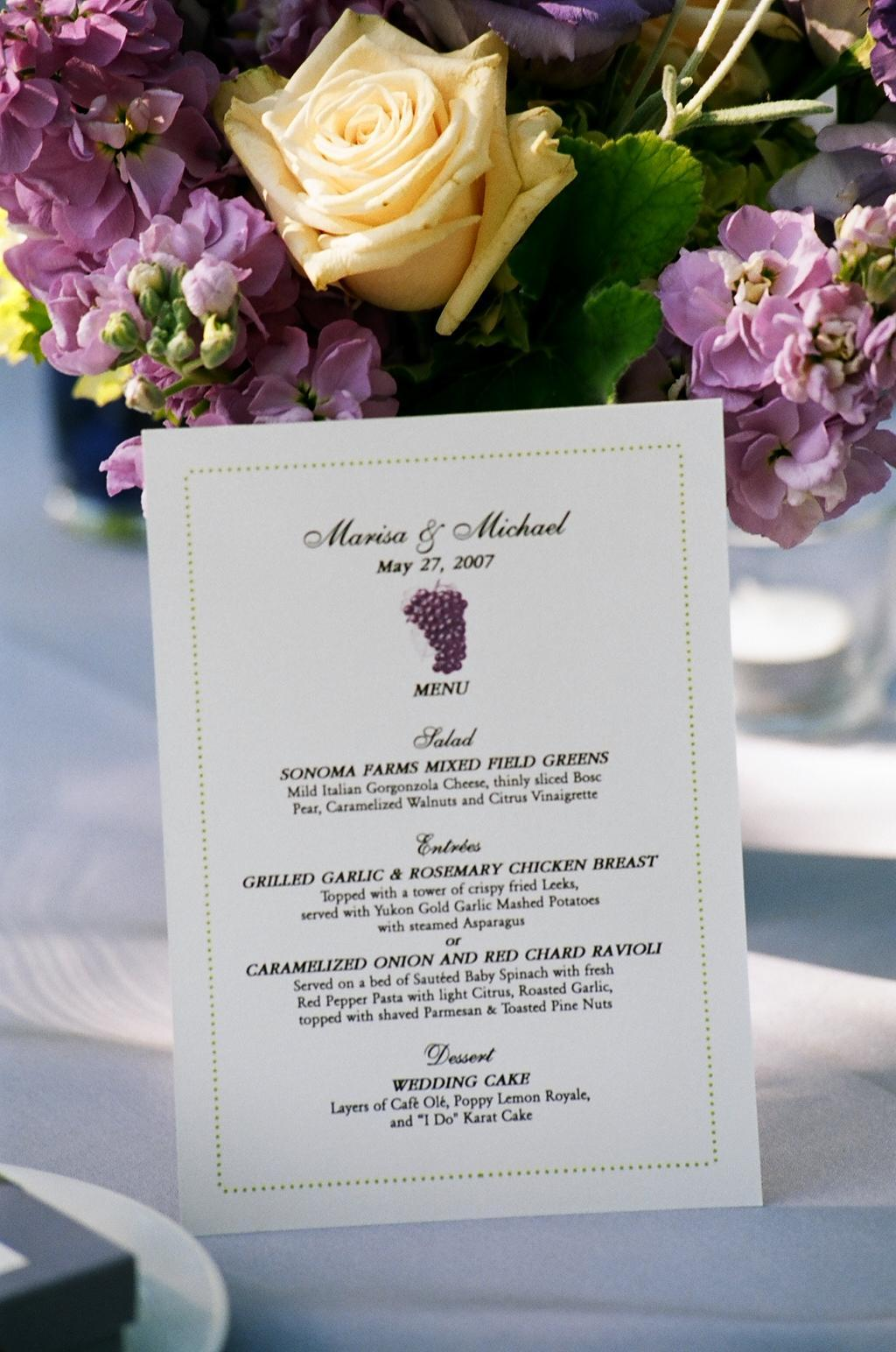 Reception, Flowers & Decor, Flowers, Menu, Grapes, Whiteaisle