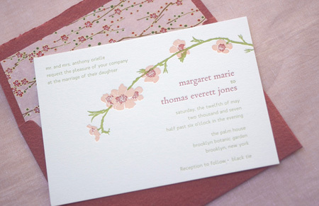 Stationery, pink, invitation, Invitations, Cherry, Twig fig, Blossum