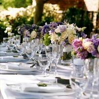 purple, Centerpieces, Garden Wedding Flowers & Decor, Spring Wedding Flowers & Decor