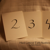 Table, Artichoke ink, Numbers