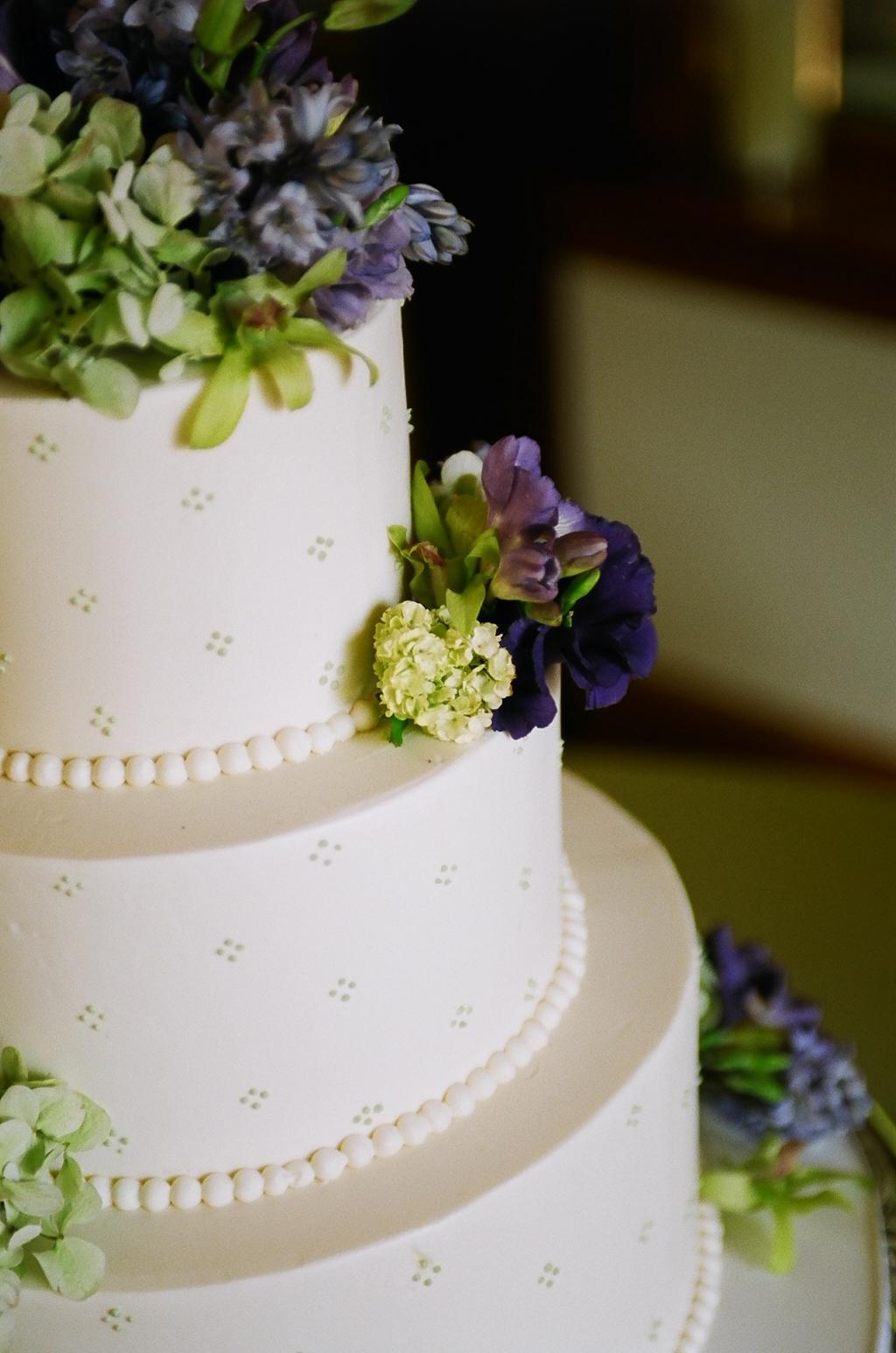 Reception, Flowers & Decor, Cakes, purple, green, cake