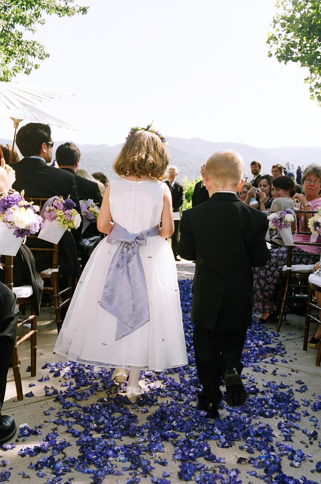 Ceremony, Flowers & Decor, purple, Flower_girl, Ring_bearer