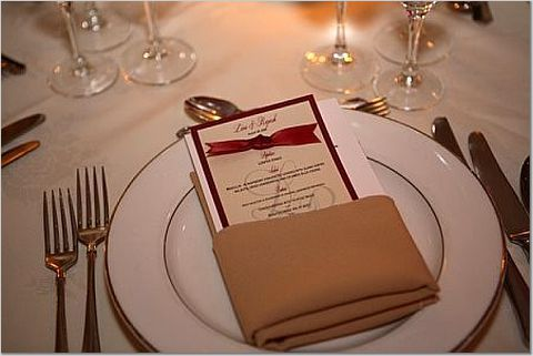 red, Menu, Table decor