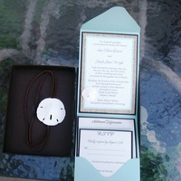 Stationery, invitation, Beach, Beach Wedding Invitations, Invitations, Boxed, Seashell, Pocketfold, Sand, Dollar, Basho