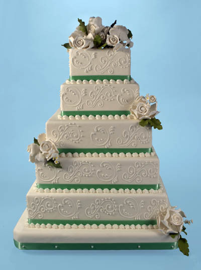 green, Wedding cakes online